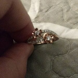 Beautiful rose gold plated over 925 sterling